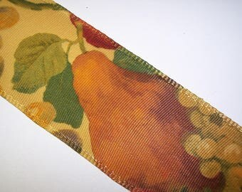 Fruit Wire Edge Ribbon 3 Yards