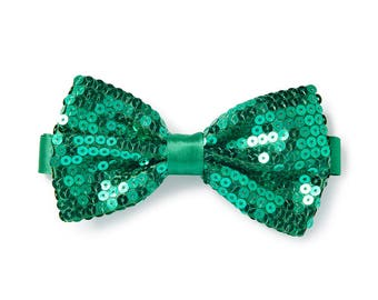 Men's Sequin Bow Tie - Kelly Green