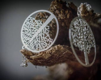 Tree of Life Magnetic Clasp Gauged Earrings