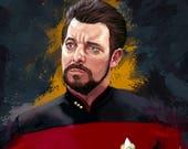 Star Trek Riker Art Print...