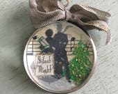 Vintage Handcrafted Pendant Silent Night couple