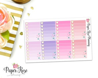 Fairy Garden Ombre Checklist Full Box Planner Stickers
