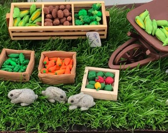Farm Fresh Fairy Garden dollhouse 1:12 scale vegetables one dozen