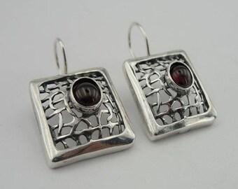 Hadar NEW Handcrafted Long 925 Sterling Silver Net Earrings (H 2142s)