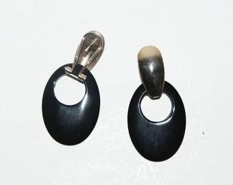 VINTAGE Glass MOD Dangle Earrings