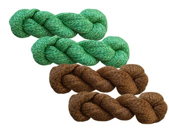 High quality 100% LINEN yarn, 400gr (4 hanks x 100 gr)-Pure Linen Flax For All Purpose Use- Weaving, Crocheting, Knitting, Crafts