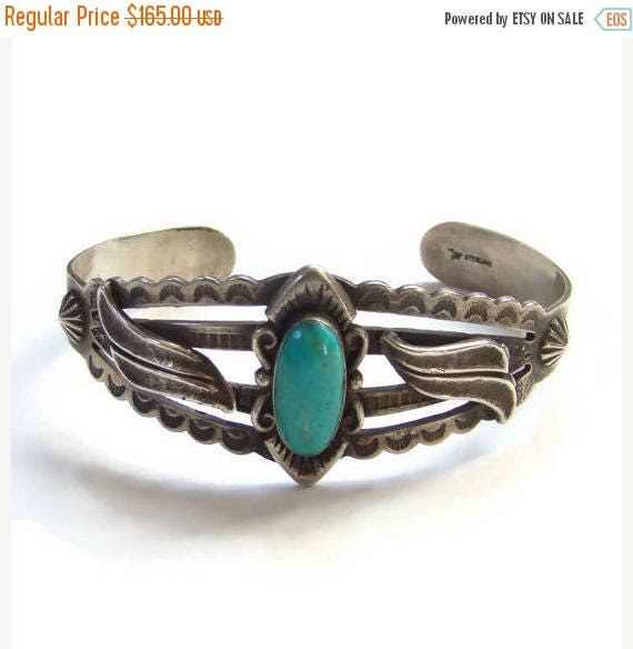 ON SALE Bell Trading Post Turquoise Cuff Bracelet Fred Harvey