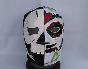 Brotherhood of Calaveras Wrestling Mask Mardi Gras day of the dead halloween party masks Horror mask Lucha Libre mask mexican art