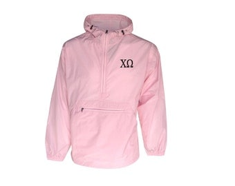 Chi Omega Unlined Anorak (Pink)