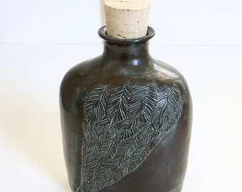 Ceramic Black Wing Flask