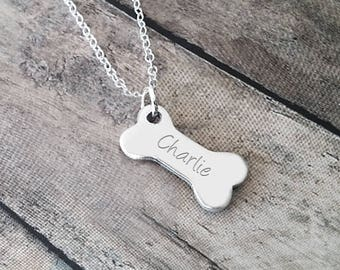 Pet Loss Gift, Dog Remembrance, Pet Sympathy Gift, A Personalized Dog Bone Necklace, Dog Sympathy Gift
