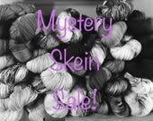 HauteKnitYarn, Mystery Skein, Fingering/ Sock Weight, Hand dyed Yarn,  Yarn, yarn sale, mystery yarn, surprise yarn