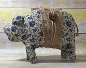 standing pig - primitive country - pig decor - shabby farmhouse decor - country primitive decor - primitive country decor - folk art pigs