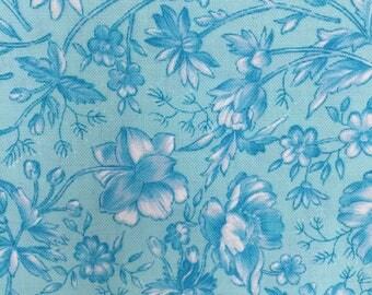 Robert Kaufman, Designer Essentials, JS2160, Bahama Blue, Floral