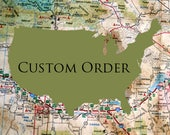 CUSTOM ORDER for Nelle   Minnesota Wood Wall Decor   Maine Wood Wall Decor