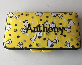 Yellow Snoopy Baby Boy Girl Wipe Case