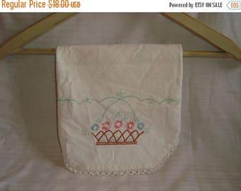 ON SALE Vintage Linen Table Cloth Tablecloth