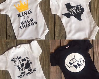 Mix & Match - Pick any TWO or more Bodysuits or Shirts - Baby Bundle
