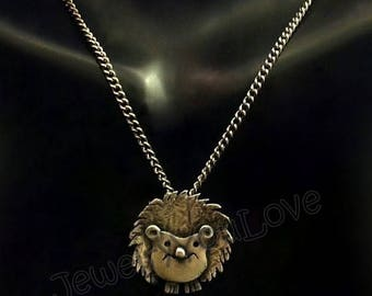 Sterling Silver Hedgehog Necklace - Henry