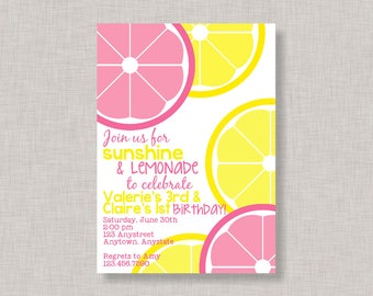 Joint Lemonade Birthday Invitation