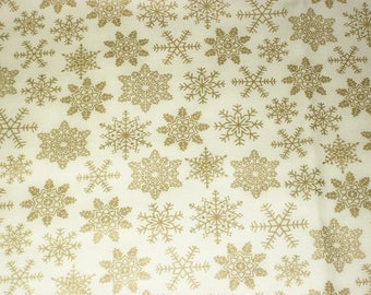 Snowflake Fabric, Christmas Fabric, By The Yard, Northcott Fabric, Quilting Fabric, Sewing Apparel Fabric, Winter Fabric, Cotton Fabric