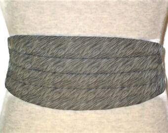 80s Cummerbund, Black White Cummerbund, Formal Cummerbund, Patterned Cummerbund, 1980s Men's Formal Wear, Tux Cummerbund Tux Accessory
