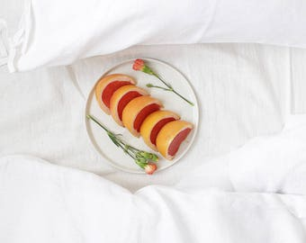 Linen pillowcase with ties, Custom color or white pillowcase, Natural linen bedding by Lovely Home Idea