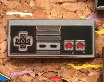 NES Controller Enamel Pin