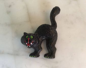 Halloween Black Cat Brooch