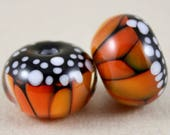 2 Monarch butterfly beads 11 mm x 16 mm, 2.7 mm hole (Item 18095)