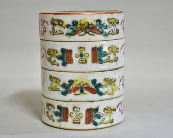 Porcelain container 6131, decorated