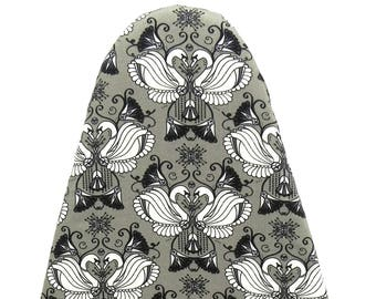Tabletop Ironing Board Cover - Swans in grey, black and white - Laundry and Housewares