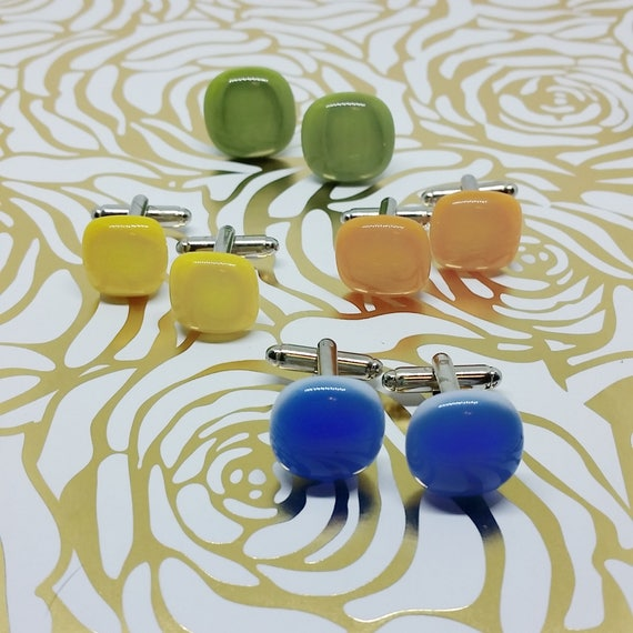 Custom Color and Quantity, Summer Collection Cuff Links, Wedding, Prom or Formal Attire