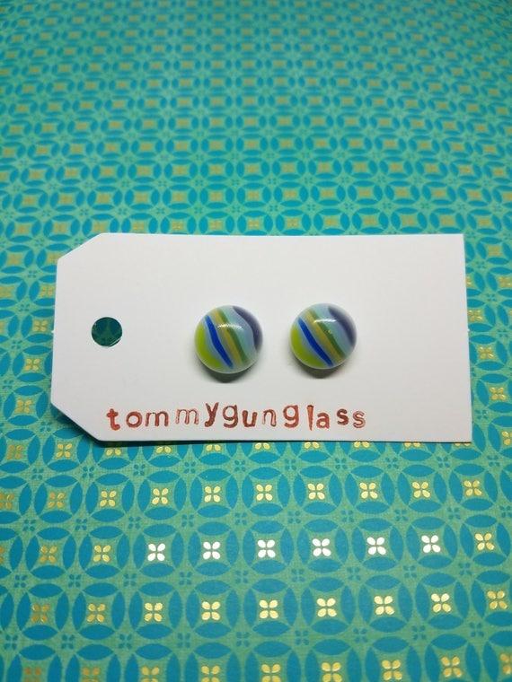 Pastel Striped Stud Earrings