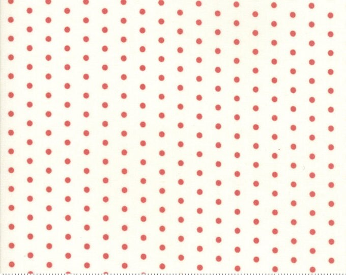 Victoria Ivory Rouge dot 44167 13 by 3 Sisters for moda fabrics