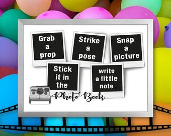 Photo Guest Book Sign, Polaroid Guest Book Sign, Childrens Photo Book Sign, Printable Photo Guest Book Sign, Instant Download