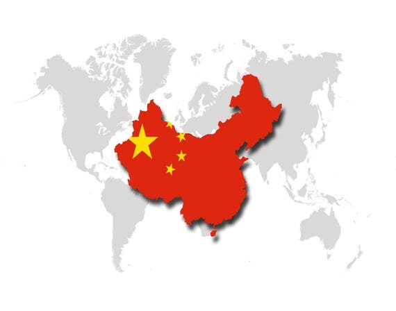 World map china china flag map poster print like this item gumiabroncs Image collections