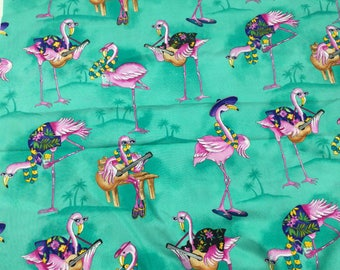 Flamingo Fabric Timeless Treasures for Quilting, Apparel, Crafts by Timeless Treasures 1 yard x 44 inches