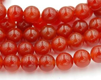 Carnelian Beads 10mm -15 inch strand