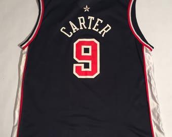 Vintage Vince Carter Team USA Champion Basketball Jersey