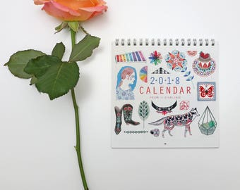 2018 'Illustrated Things' Wall Calendar