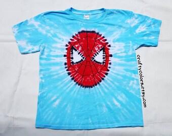 Tie Dye Shirt inspired by Spider-Man  Super Hero T Shirt Child Size
