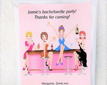 Bachelorette Favors  and Girls Night Out Drink packets for favors- Margarita mix