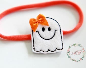 Halloween Ghost Headband -  Halloween Headband - Baby Ghost Headband - Girls Halloween Headband