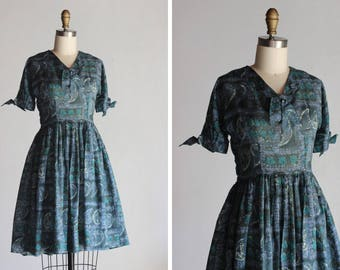 1950s Britanica Paisley Dress