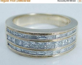ON SALE Estate Jewelry 14K Yellow Gold 1.20ct Vs1/G Diamond Wide Band Ring