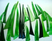 Reserve for ozana01 Kiln Formed Green Glass Mix 24 pieces (R102)