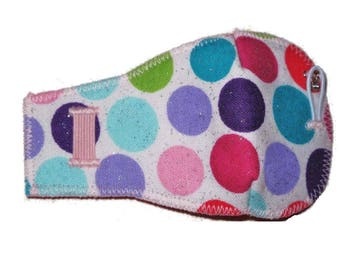 Glitter dots Eye-Lids - kids eye patches - soft, washable eye patches for children and adults
