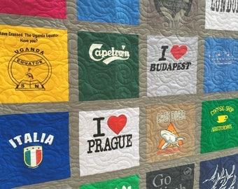 T Shirt Quilts - 36 Shirt T-Shirt Quilt - King T Shirt Quilt