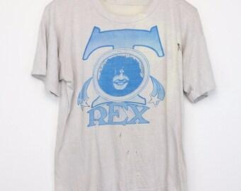 T Rex Marc Bolan Shirt Vintage tshirt 1970s Mickey Finn Gloria Jones Psychedelic English Rock And Roll Band Folk Music Tyrannosaurus Rex